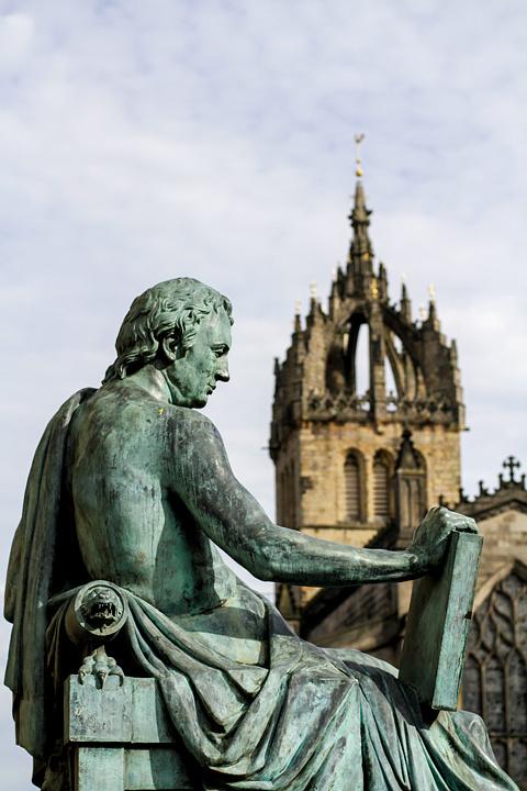 Hume statue